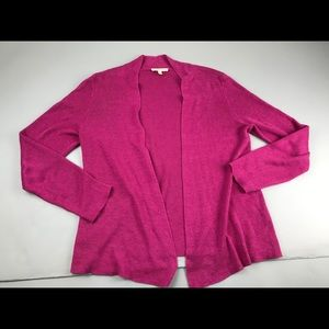 Eileen Fisher Open Front Cardigan Sweater Linen pM